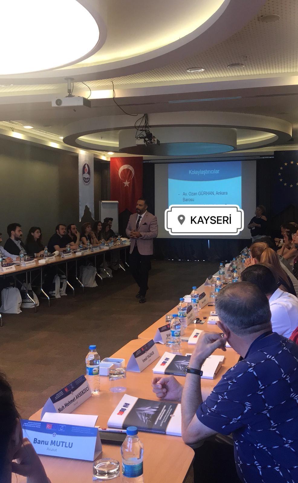Av. Ozan GÜRHAN'ın Kayseri Nov Otel'de Kayseri Barosu Avukatlarına Verdiği Eğitimden Kareler